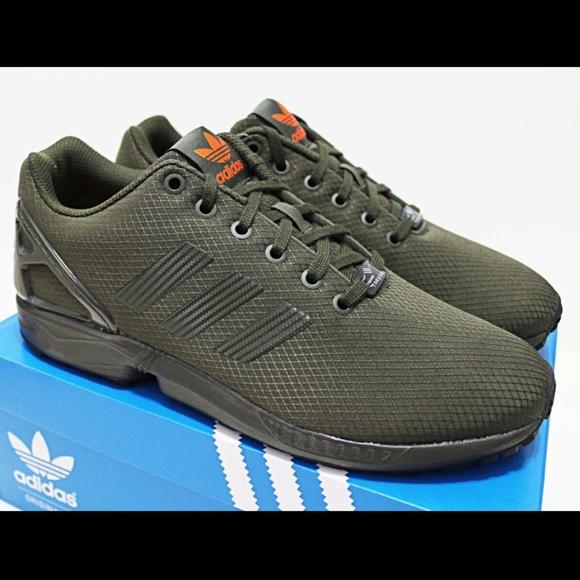 size 40 8889c 47712 NIB ADIDAS ZX Flux Men's Green Low Top Sneakers NWT
